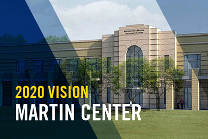 The new Nick and Lou Martin University Center is a part of the 2020 Vision