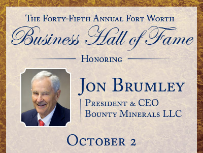 John Brumley is the 2014 Executive of the Year for the Business Hall of Fame.