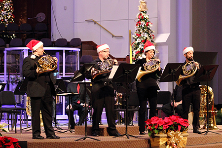 Deck the halls with the Fort Worth Symphony Brass Ensemble and Assistant Conductor Daniel Black in a performance of holiday favorites featuring special guests, the Dorothy Shaw Bell Choir, at 7:30 p.m. on Friday, Dec. 19, in Martin Hall.