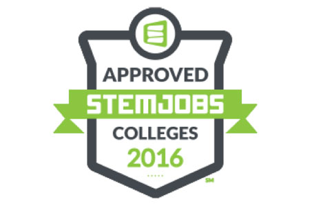 The STEM Jobs(SM) Approved Colleges survey measures how effectively schools align their programs to high demand, high paying STEM jobs, and how well they assist their students in achieving career aspirations in STEM fields.