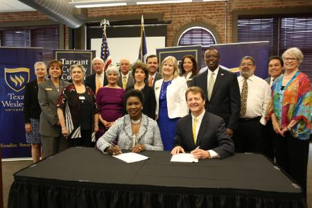 Texas Wesleyan and TCC announce new articulation agreements