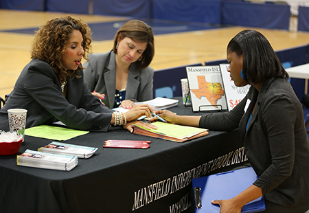 An image at the Career Fair taken in 2013.