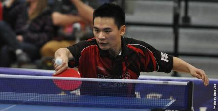 Photo of Yahao Zhang from the US National Table Tennis team trials March 2013.