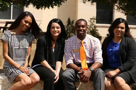 The newest members of the Texas Wesleyan Office of Admissions team.