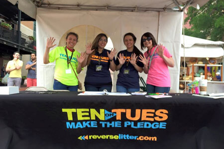 Volunteer to help Reverse Litter at Mayfest.