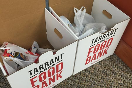 Help raise food for the Inaugural Thanksgiving Food Drive for the Tarrant Area Food Bank.